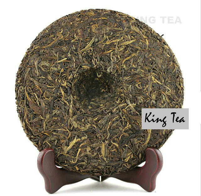 Free Shipping 2008 ShuangJiang MengKu Old Tree Green Beeng Cake 400g  China YunNan Chinese Organic Puer Puerh Raw Tea Sheng Cha