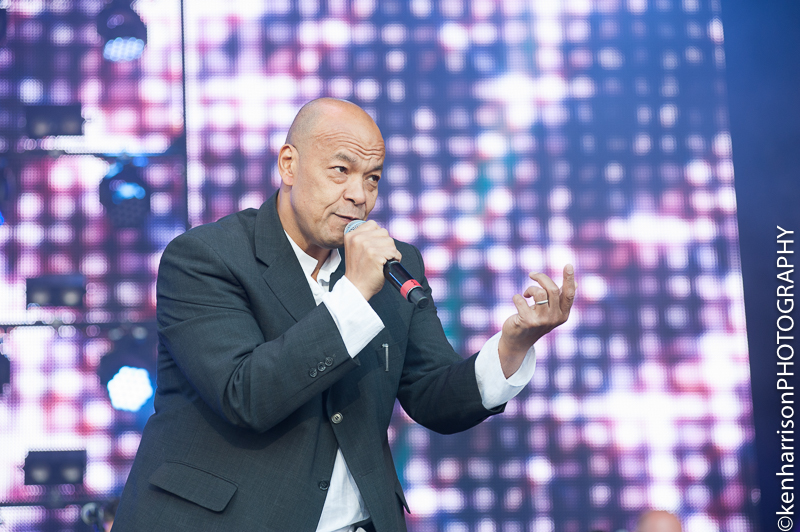 05th August, 2017. Roland Gift at Rewind North, Macclesfield, UK