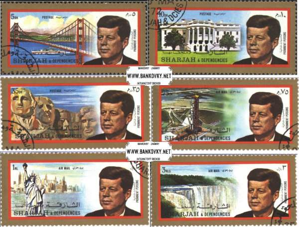 Známky Sharjah 1972 Prezident Kennedy