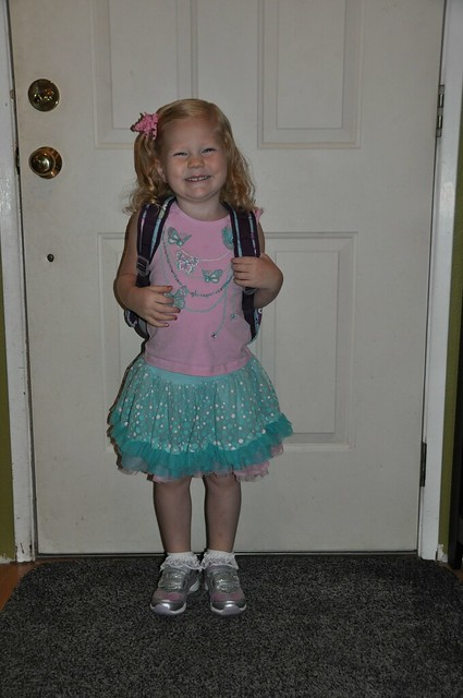 Hadley first day of preschool