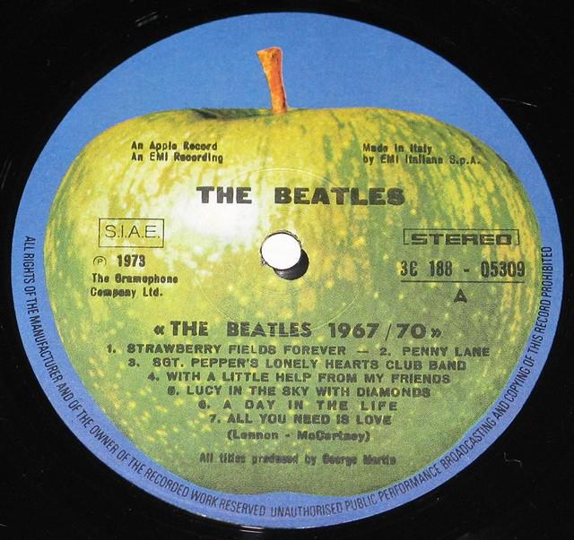 """Beatles 1967-1970 Italy 12"""" Vinyl LP"""