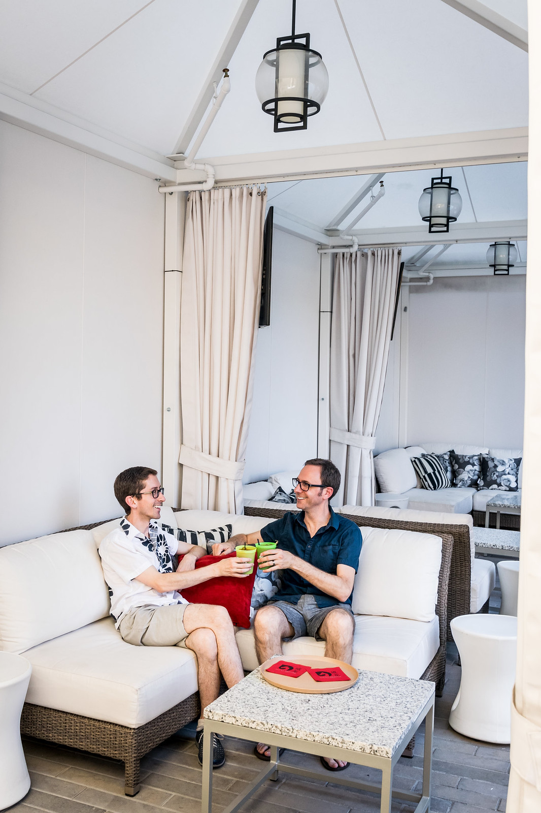 cocktails in the poolside cabana