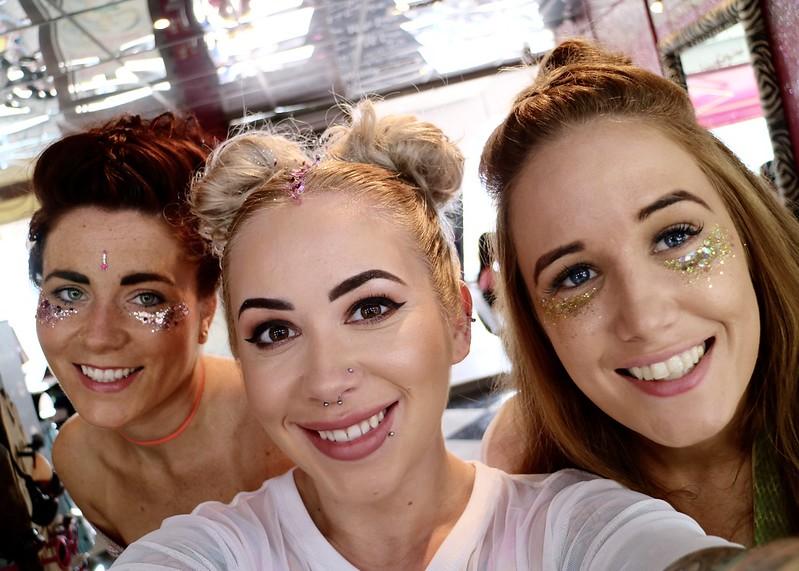 Pool Party makeup