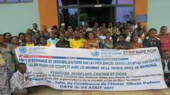 Beni, North Kivu Province, DR Congo: Group photo: The United Nations Joint Human Rights Office (UNJHRO) of MONUSCO-Beni organized, on Wednesday 9 August 2017, a workshop to discuss the issue of sexual violence, particularly sexual violence in armed confli