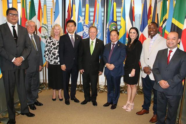Secretario General del SICA, Vinicio Cerezo sostiene reunión con funcionarios de la Organización Mundial para la Gobernanza y la Competitividad (WOGC) en New York