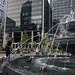 Dog fountain Berczy Park Toronto (2)