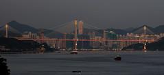 the Ting Kau Bridge and Tsuen Wan, Hong Kong