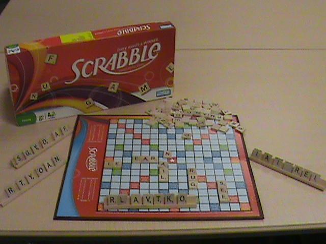Scrabble brand crossword game.