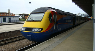 East Midlands Trains Class 43 number 43043 on CrossCountry service at Derby station