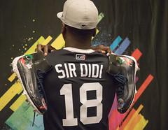 Sir Didi! Didi Gregorius shows off his  #PlayersWeekend Looney Tunes Nike Cleats.
