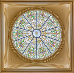 New Jersey Senate Stained Glass Dome