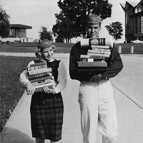There are multiple ways to feel when beginning a new year. Relax and enjoy the Valpo experience! #TBT to the beginning of classes back in 1960! #GoValpo