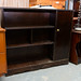 Mahogany shelf unit comes with door E40
