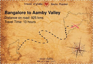 Map from Bangalore to Aamby Valley