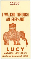 I Walked through an Elephant Ticket, Margate, New Jersey