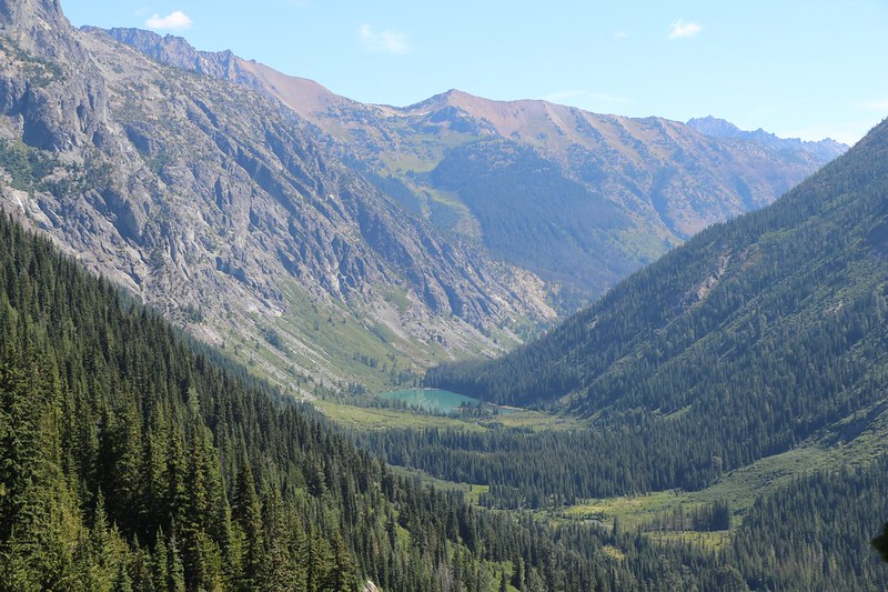 Hart Lake and the Railroad Creek Valley - Holden Village is downhill around that corner