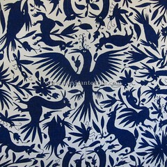 Mexican patterns - Otomi fabric and textiles for home decoration
