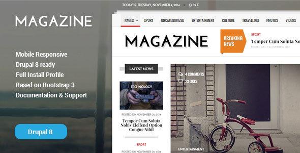 Gazeta v1.2 – News & Magazine Drupal 8 Theme