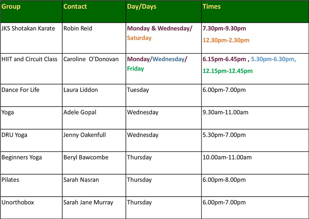 sudio timetable for website pic new