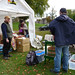 Setting up the apple press at the Reading Town Meal, 2017