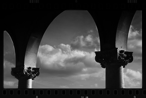Black and White Columns and Arches