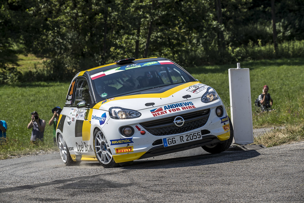 30 INGRAM Chris (GBR) ELLIOTT Edmondson (GBR) Opel Adam R2 action during the 2017 European Rally Championship Rally Rzeszow in Poland from August 3 to 5 - Photo Gregory Lenormand / DPPI