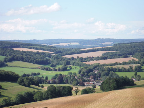 Northerly View from The Trundle: Singleton and the Rother Valley through gap in South Downs main ridge