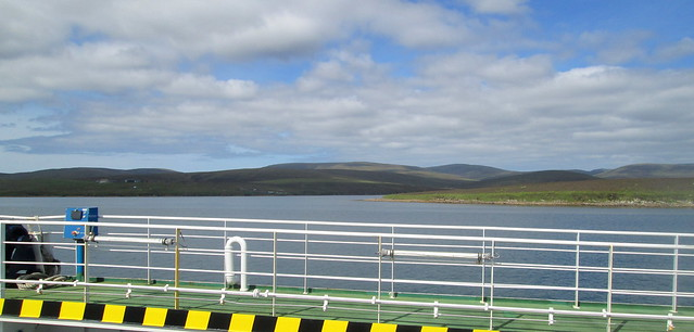Approaching Hoy from Ferry across Scapa Flow