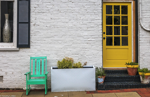 georgia newnan chair door facade wall color study yellow torques white building architecture downtown window brick decorative