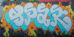 Graffiti visible from the J train platform at Broadway Junction
