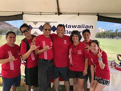 Hawaiian Electric at American Heart Association's Heart & Stroke Walk - August 12, 2017: Yeah, we made it!