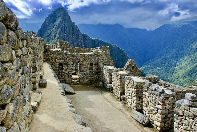 Incan ruins at Machu Picchu
