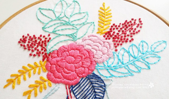 Summer in A Jar embroidery pattern