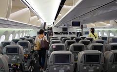 People in civil airplane