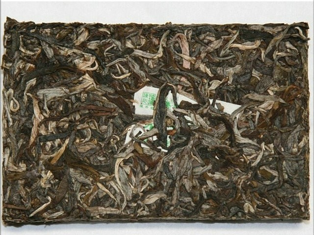 Free Shipping 2009 CHEN SHENG HAO Lao Ban Zhang Pure Leaf Brick 200g vYunNan MengHai Organic Pu'er Raw Tea Sheng Cha Weight Loss Slim Beauty
