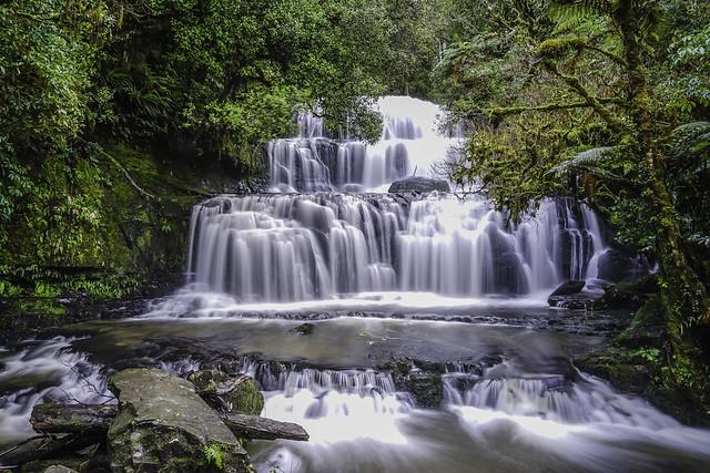 Purakaunui Falls, Catlins, New, Sony ILCE-7M2, Sony FE 24-70mm F4 ZA OSS