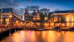 Blue hour at Kloveniersburgwal, Amsterdam