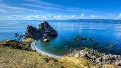 Lac Baïkal et le rocher sacré Bourkhan