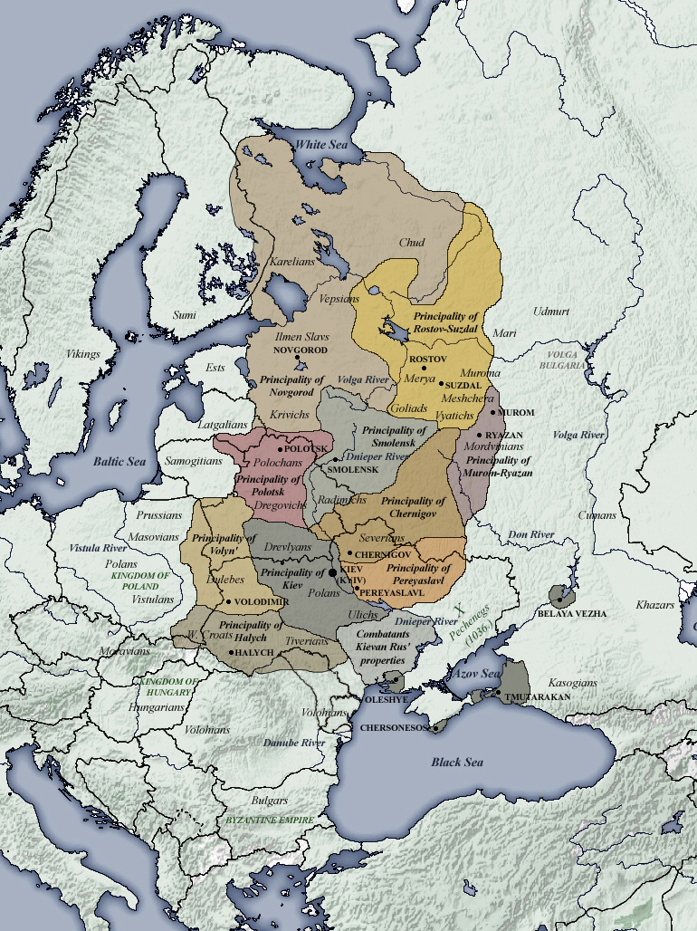 Principalities of Kievan Rus', 1054–1132