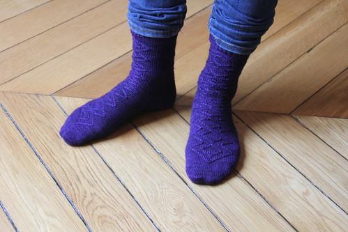 My new purple socks
