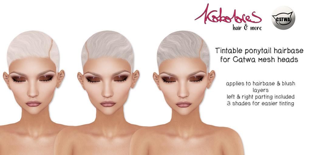 [KoKoLoReS] Tintable ponytail hairbase - TeleportHub.com Live!