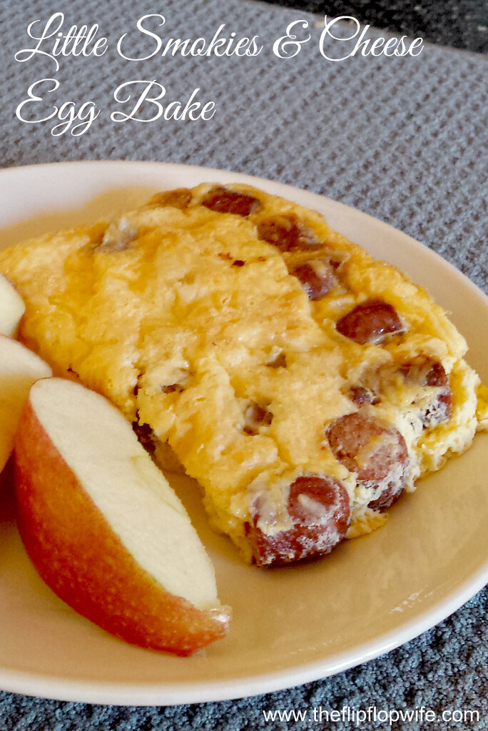 Lit'l Sausages & Cheese Breakfast Egg Bake