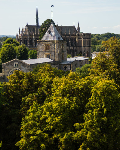 Arundel Cathedral fron the Castle Keep.jpg
