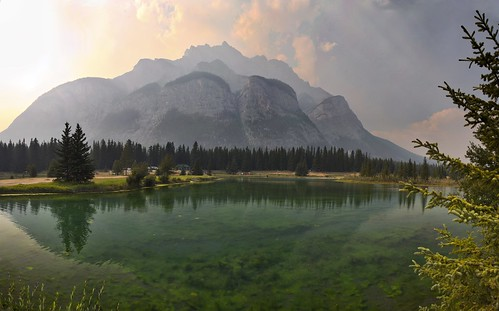 Cascade Mountain Smoke Panorama