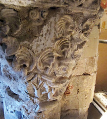 Capital A2, Romanesque, under later plaster and paint