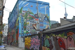 Uber5000's building in Graffiti Alley.