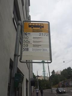 Bus Stop in Helsinki, Finland