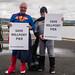 Superheros Campaign to Save Millport Pier