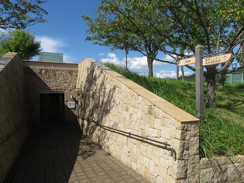 小倉競馬場の泉の広場脇にある更衣室付トイレ