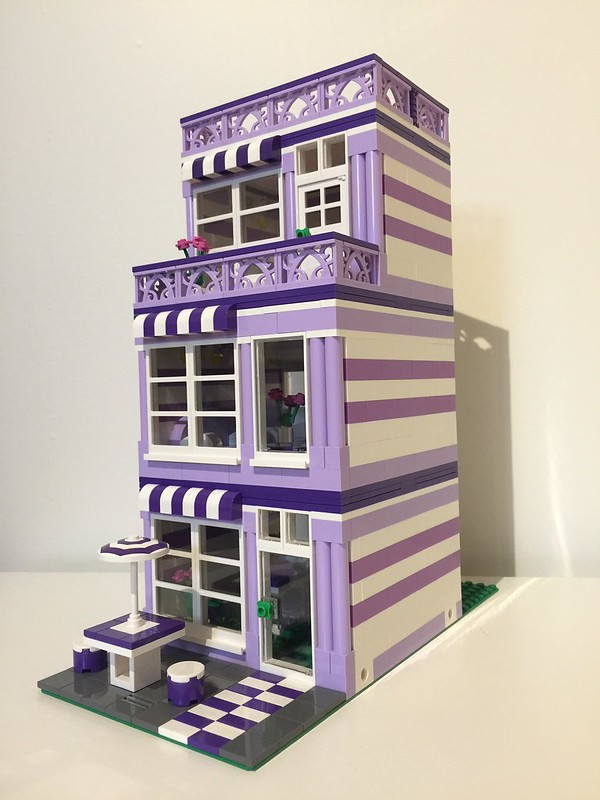 Dark Purple, Medium Lavender and Lavender House